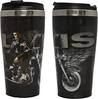 Midsouth Products Elvis Presley Steel Thermo Travel Mug with Motorcycle