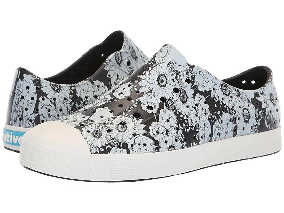 Native Shoes Jefferson (Jiffy Black/Shell White/Jardin) Shoes