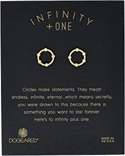 Dogeared - Infinity + One, Small Halo Stud Earrings