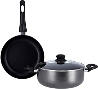 Royalford 3Pc Non stick Cookware Set-CD bottom/Black