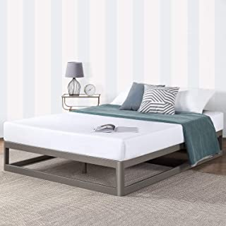 Mellow Metal Platform Bed Frame w/Heavy Duty Steel Slat Foundation, Grey