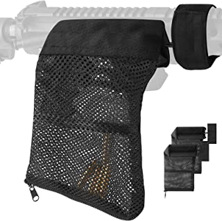 Linkidea 2 Pack Brass Shell Catcher with Heat Resistant Mesh and Zippered Bottom, Nylon Mesh Collector for Shooting Training