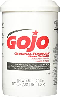 GOJO ORIGINAL FORMULA Hand Cleaner, Fragrance Free, 4.5 lb Heavy Duty Waterless Hand Cleaner Canister for GOJO Crème Style Dispenser – 1115-06