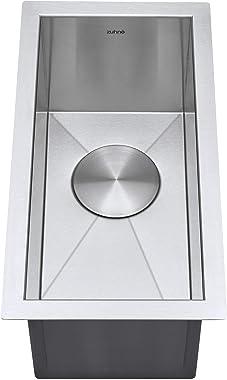 ZUHNE Small Undermount Bar Sink or RV Kitchen Sink,16-Gauge Stainless (10 by 18 Inch)