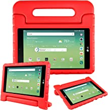 Bolete Case for LG G Pad X 8.0 Inch - Kids Shock Proof Convertible Handle Light Weight Super Protective Stand Cover for LG G Pad X 8.0 T-Mobile V521 / AT&T V520 Tablet,Red