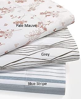 300 Thread Count Organic Cotton Printed Sheet Set Grey/Queen