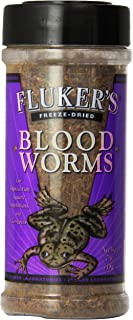 Fluker Labs SFK72005 Freeze-Dried Bloodworms Small Animal Food, .7-Ounce