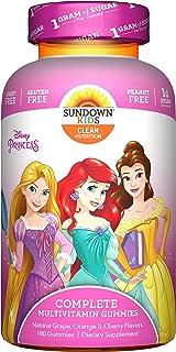 Sundown Kids Disney Princess Complete Multivitamin, 180 Count