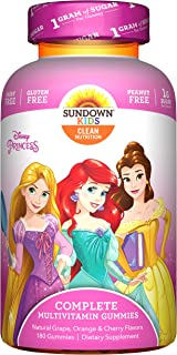 Sundown Kids Disney Princess Complete Multivitamin, 180 Count