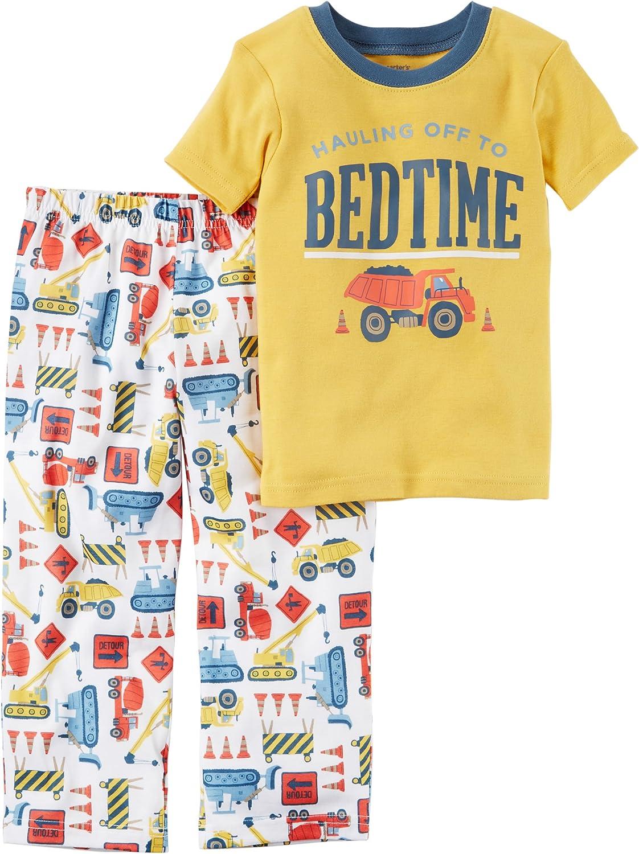 Carter's Boys' 12M-4T 2 Piece Bedtime Construction Print Pajama Set 2T