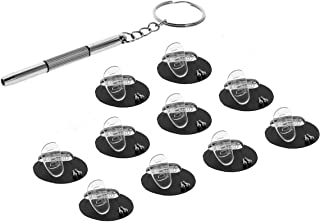 15mm D-Shaped Soft Silicone Nose Pads for Eyeglasses Repair Kits Mini 3 in 1 Stainless Steel Screwdriver