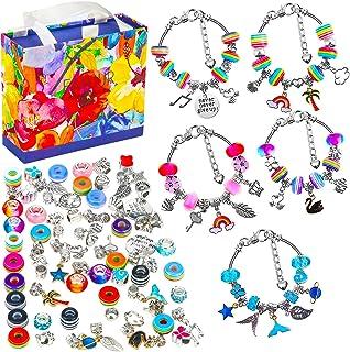 Bracelet Making Kit, 86 Pcs DIY Charm Bracelet Making Kit with Gift Box, DIY Gift Charm Beads Jewelry Making Set for Teen ...