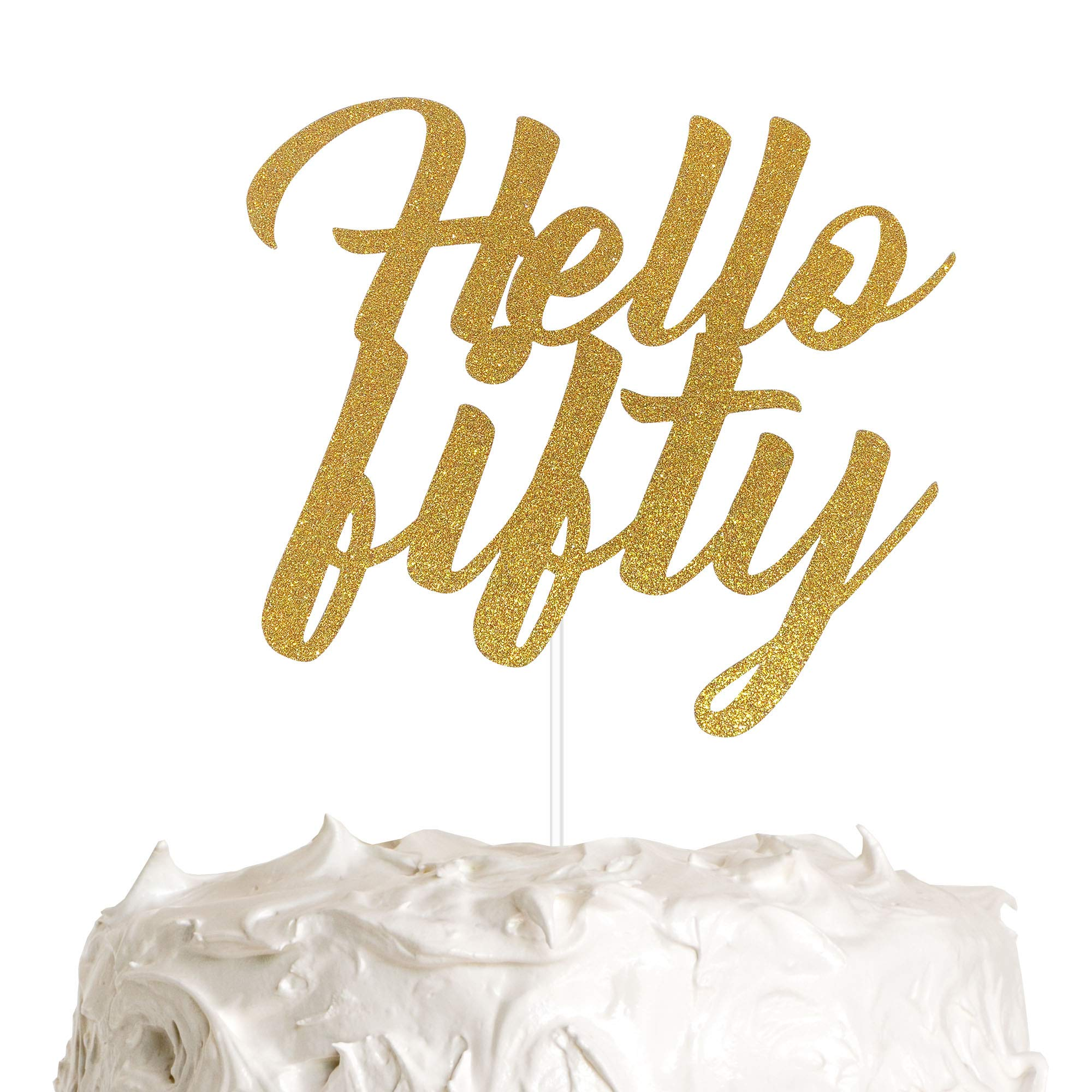 Astonishing Hello Fifty Cake Topper 50Th Birthday Cake Topper Happy Birthday Personalised Birthday Cards Veneteletsinfo