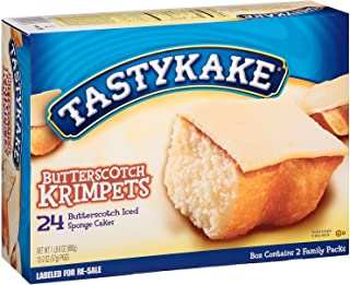 Tastykake Butterscotch Krimpets - 24 Cakes Total (12 Packs of 2 Cakes)