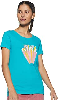 United Colors of Benetton Women's Striped Regular fit T-Shirt