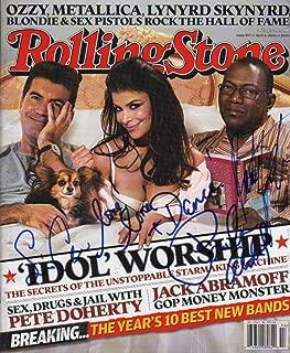 AMERICAN IDOL (Paula Abdul, Randy Jackson and Simon Cowell) signed Rolling St...