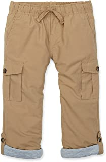 Hope & Henry Boys' Lined Pull-on Cargo Pants
