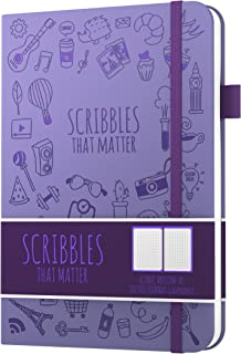Dotted Journal by Scribbles That Matter - Create Your Own Unique Life Organizer - No Bleed A5 Hardcover Dotted Notebook - Inner Pocket - Fountain Pens Friendly Paper - Iconic Version - Lavender