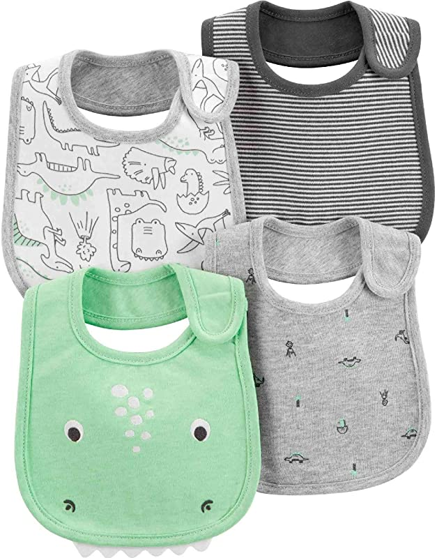 Carter S Little Baby Basics 4 Pack Bibs Water Resistant One Size New