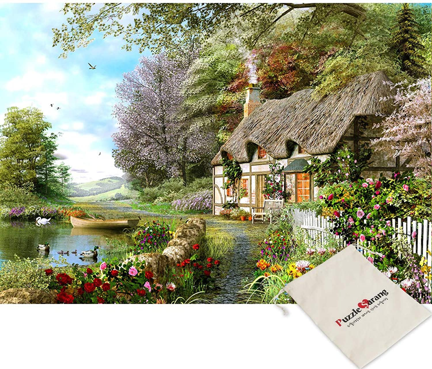 Chamberart A Small Hut in The Woods - 2000 Piece Jigsaw Puzzle [Pouch Included]