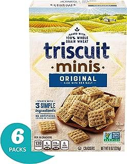 Triscuit Mini Original Crackers, Non-GMO, 8 Ounce (Pack of 6)