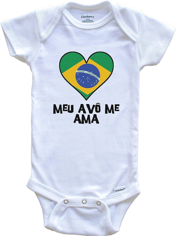 Brazil Infant  Toddler Shirt Cute Brazilian Flag Heart Brazilian Flag Baby T-Shirt
