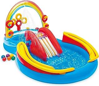 Intex Rainbow Ring Play Center - Kinder Aufstellpool - Planschbecken - 297 x 193 x 135 cm - Für 3 Jahre