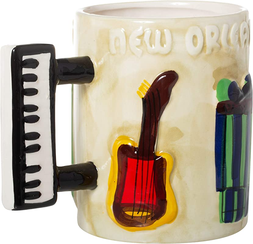 New Orleans Musical Instruments Molded Souvenir Coffee Mug
