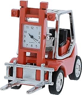 Miniature Orange Forklift Truck Novelty Quartz Movement Desktop Collectors Clock TM3