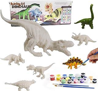 Dinosaur Painting Kits, DIY Dinosaur Crafts and Supplies Set Painting Kit, Dinosaur Modeling, STEM Educational Set Toys fo...