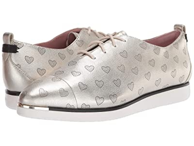 Cole Haan Grand Ambition Lace-Up (Soft Gold Metallic Perf Heart/Optic White) Women