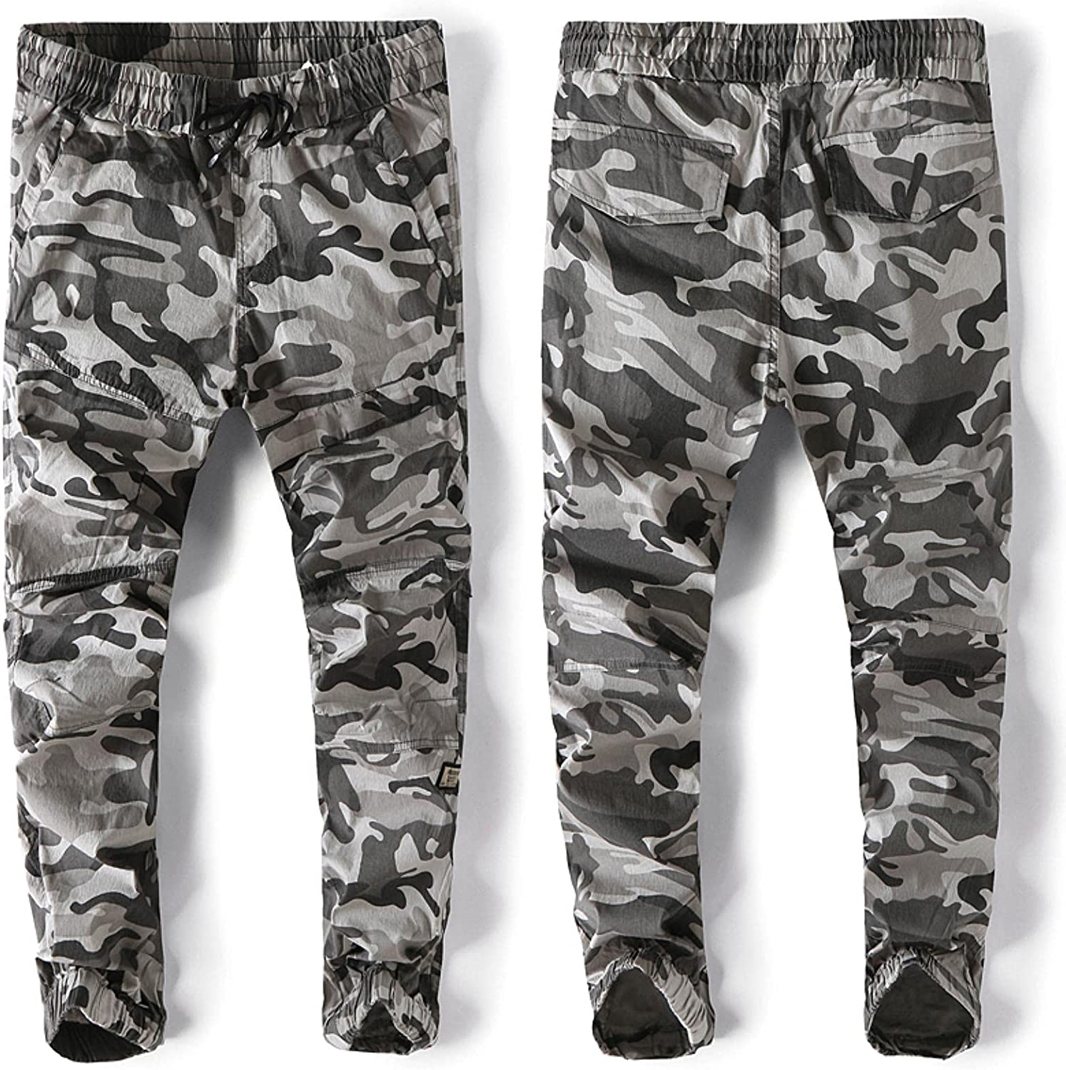 Cargo Pants Tactical Male Overalls Training Many Pockets Solid H
