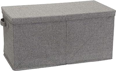 Household Essentials Jumbo Fabric Double Twist Box Storage Bin, X-Large, Grey