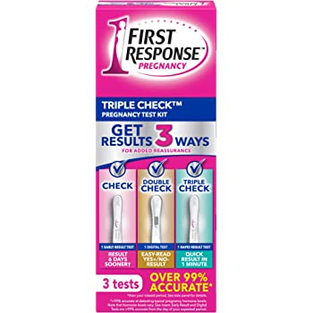 First Response Triple Check Pregnancy Test 3 Count