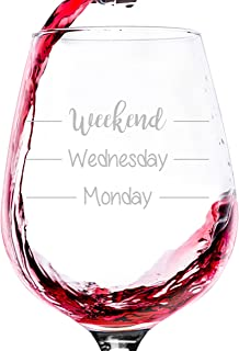 Weekend Funny Wine Glass - Best Gag Gifts For Mom - Unique Mother's Day Gift For Women, Her - Cool Birthday Present Idea From Husband, Son, Daughter - Fun Novelty Gift For Wife, Sister, Friend -13oz