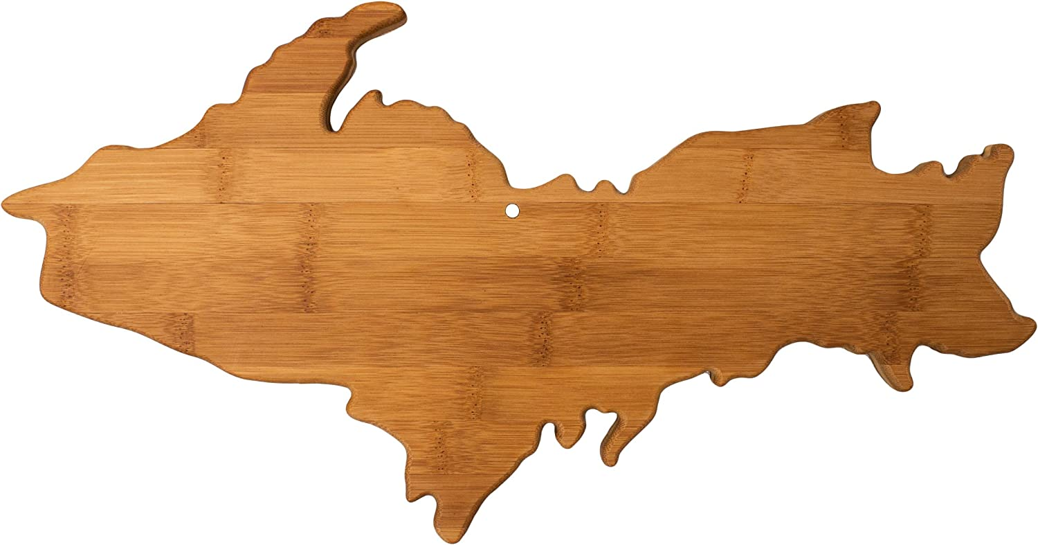 Totally Bamboo Free shipping on posting Genuine reviews Upper Peninsula Shaped Serving Board Cutting M