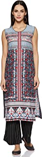 BIBA Women's cotton straight Kurta
