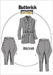 Butterick Patterns B6340 XM Banded Jacket, Breeches & Jodhpurs, Size Small-Medium-Large