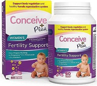CONCEIVE PLUS Prenatal Vitamins for Women - 30-Day Supply - Folic Acid D3 Zinc Inositol Iron Calcium - Prepare for Pregnan...