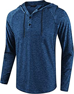 Men's Athletic Casual Hoodie Quick Dry Active Fit Sports Jersey Shirt