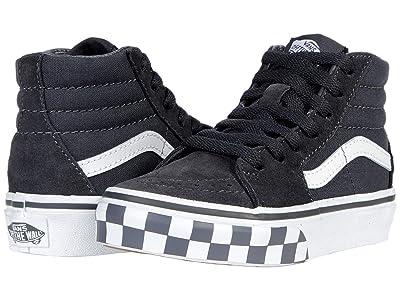 Vans Kids SK8-Hi (Little Kid) ((Check Bumper) Asphalt/True White) Boy