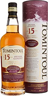 Tomintoul 15 Years Old Portwood Finish Whisky mit Geschenkverpackung 1 x 0.7 l