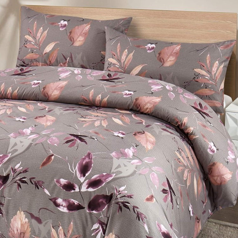 Cotton Art Parure de lit Cama 90 150 ancho x 240 largo aubergine