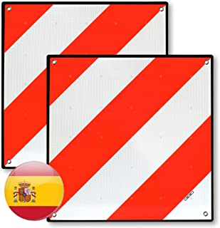 MAGMA 2 Señales V20 Homologada, Placa V20 Portabicicletas y Carga Saliente, Panel V-20 Plástico ABS, Flexible y con Protec...
