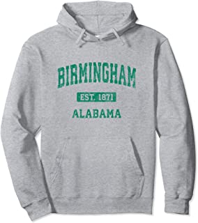 Birmingham Alabama AL Vintage Athletic Sports Design Pullover Hoodie