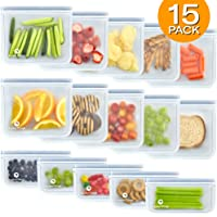15-Pack KoolerThings FDA Grade Silicone Reusable Lunch Storage Bags