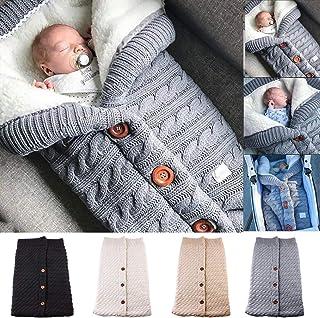 Best Newborn Baby Swaddle Blanket Fleece Stroller Wrap Nap Blanket Plus Velvet,Baby Kids Toddler Thick Knit Soft Warm Blanket Swaddle Sleeping Bag Sleep Sack Stroller Review