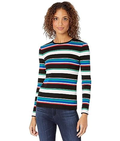 LAUREN Ralph Lauren Metallic Stripe Cotton-Blend Top