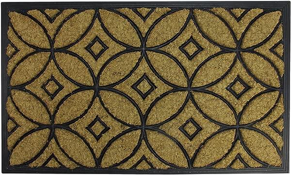 Northlight Brown And Black Geometric Outdoor Door Mat 30 X 18