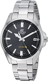 Men's Edifice Quartz Watch with Stainless-Steel Strap, Silver, 19.7 (Model: EFV-100D-1AVCR)